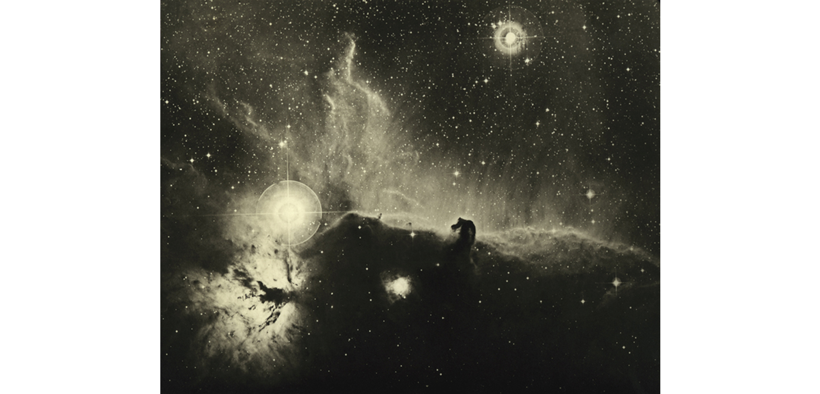 Detail view, David Malin, Dust and Gas Adrift in Orion, undated