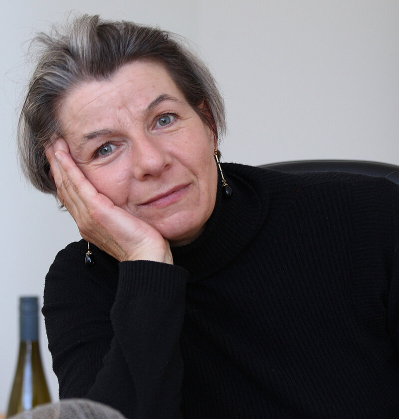Luise Unger in her studio, Cologne 2015. Photo: Alistair Overbruck
