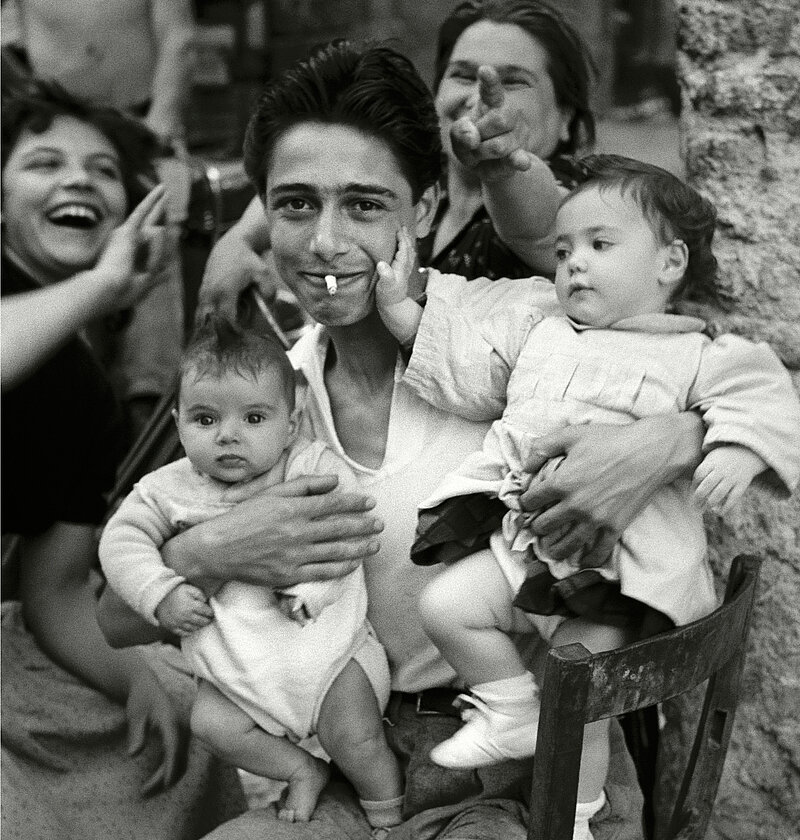 Herbert List, The Proud Father - La Corna, Rome Trastevere, Italy, 1953
