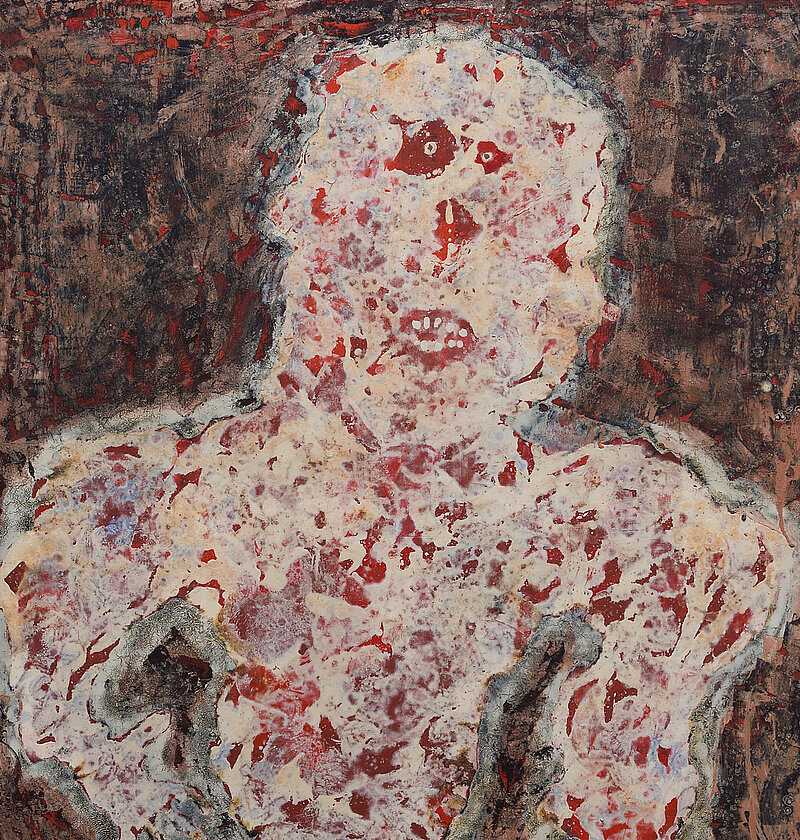 Jean Dubuffet, Intervention, 1954, Oil on canvas (detail)
