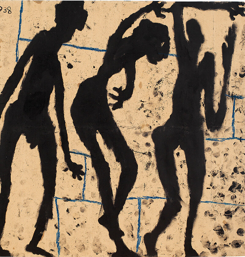 Louis Soutter, Tanagras, 1938, Ink and wax crayon on paper (fingerpainting)