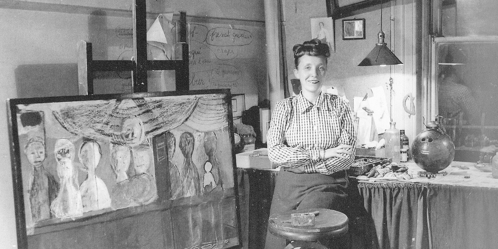 Portrait of the artist, circa 1944